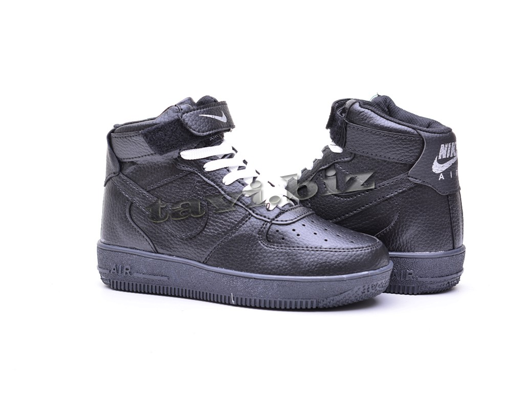 79bba635 Кроссовки Nike Air Force 1 черные высокие по низкой цене в интернет ...