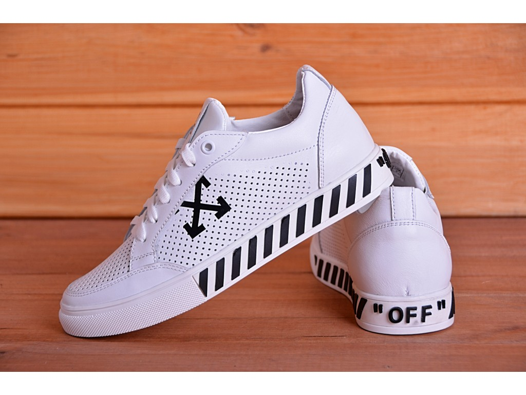 Кроссовки Road Style Off White LC-060-16 белые